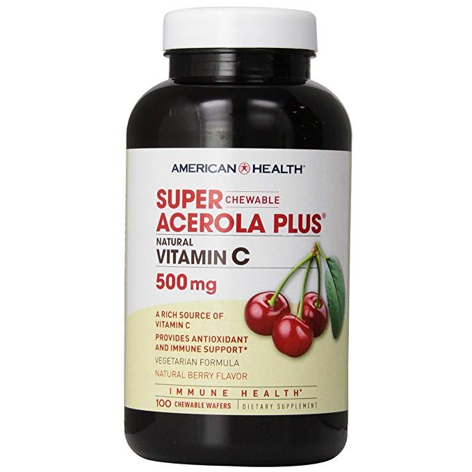 100 Count Super Acerola Plus 500 mg Chewable Wafers