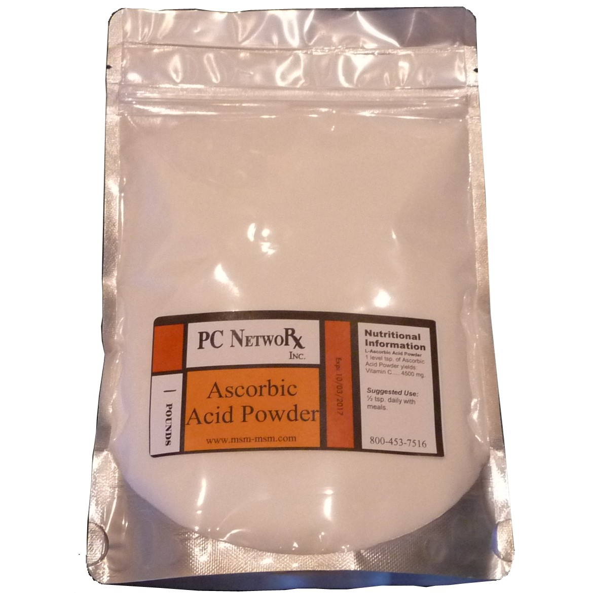 1 lb Bulk Ascorbic Acid Powder