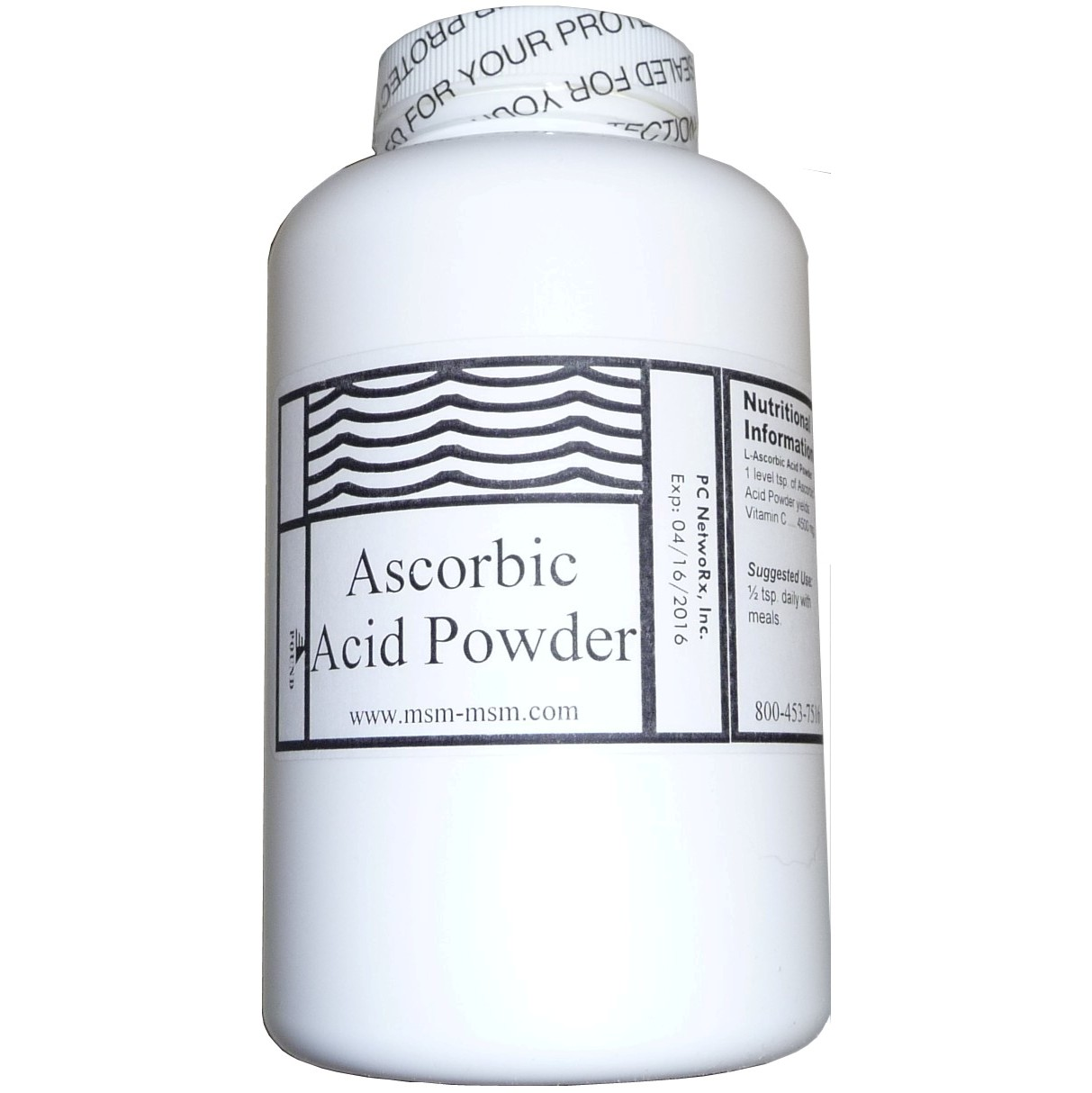 1 lb Bottle Ascorbic Acid Powder