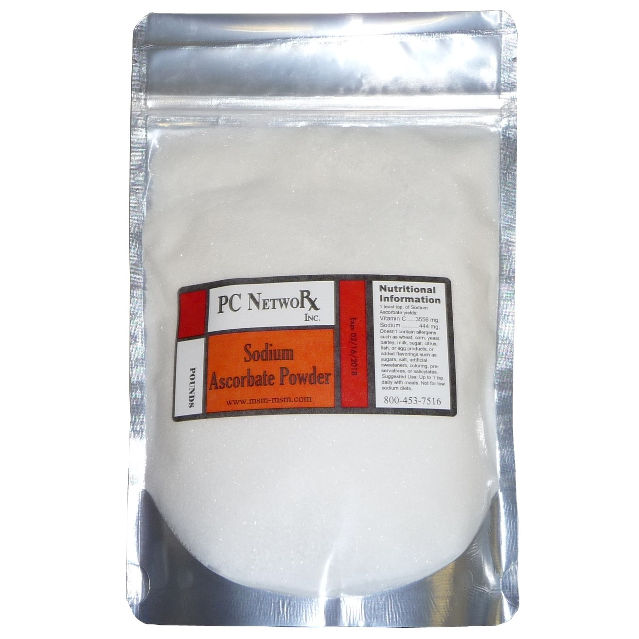 1 lb Bulk Sodium Ascorbate Powder